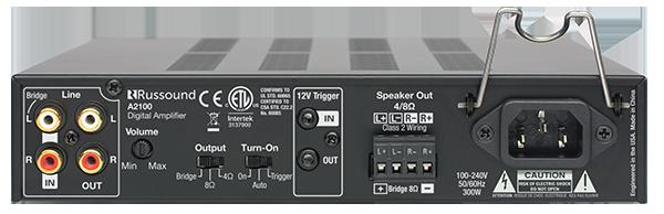 russound a2100 half rack digital 2 channel amplifier. Black Bedroom Furniture Sets. Home Design Ideas